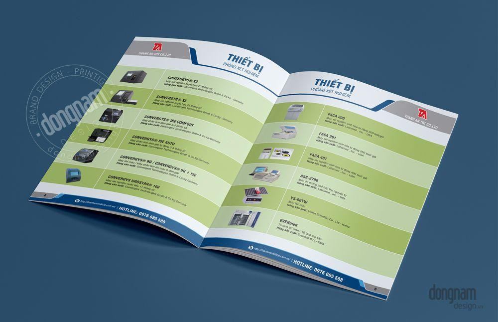 thiết kế catalogue thiết bị y tế thành an