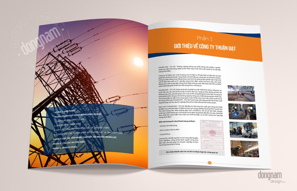 mẫu thiết kế catalogue ngành năng lượng