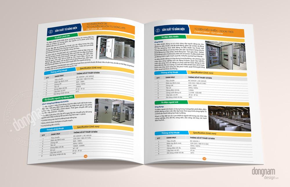 thiết kế catalogue, thiết kế hồ sơ năng lực công ty thuận đạt