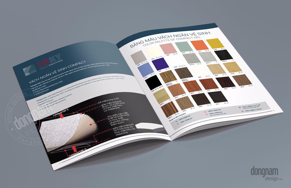 thiết kế brochure giới thiệu vách ngăn toky