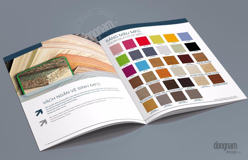 thiết kế catalogue giới thiệu vách ngăn toky