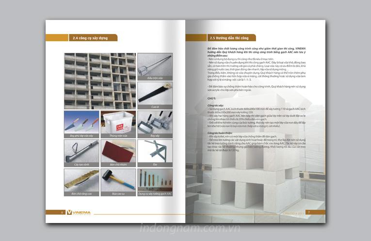 thiết kế catalogue công ty vinema