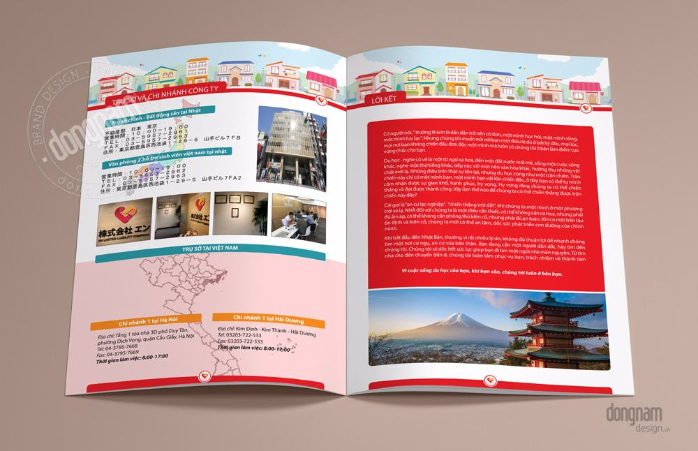 thiết kế catalogue, profile công ty ENJapan