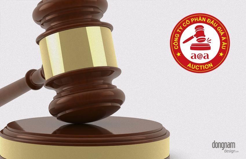 thiết kế logo công ty đấu giá á âu