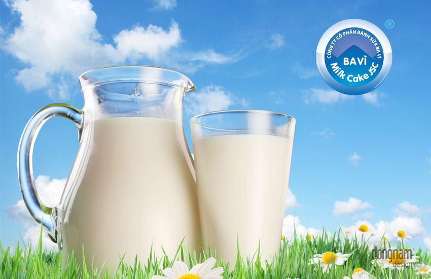 thiết kế logo công ty sữa Ba Vì