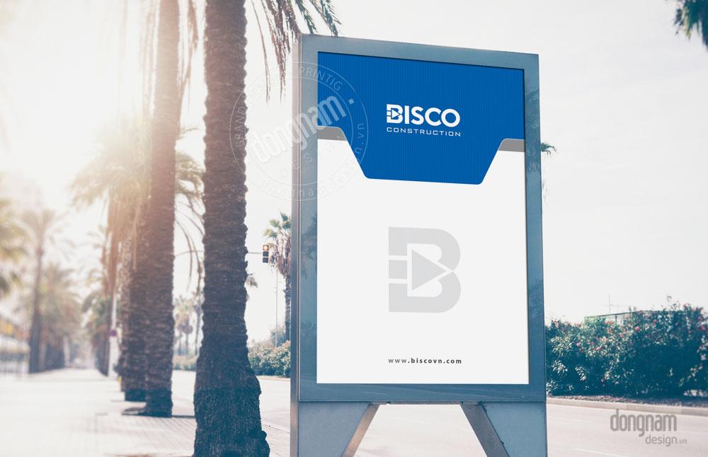 thiết kế biển quảng cáo pano công ty Bisco