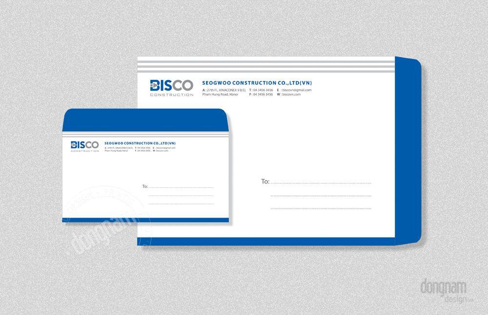 thiết kế phong bì thư công ty Bisco