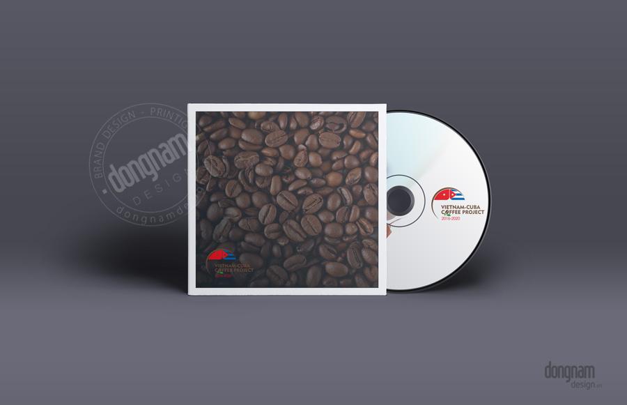 thiết kế logo dự án cà phê Việt Nam - CuBa