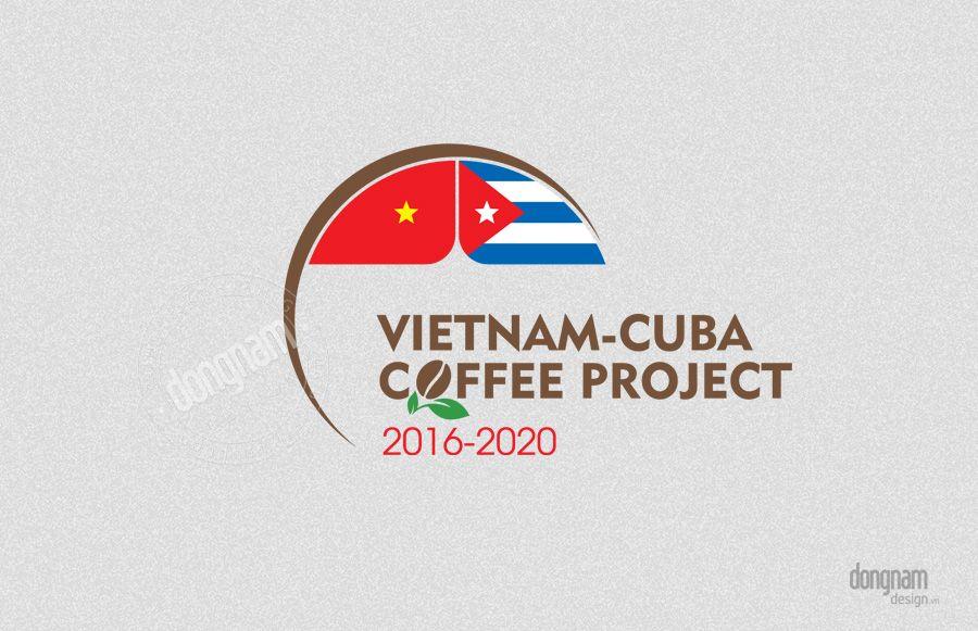 thiết kế logo dự án hợp tác cà phê Việt Nam - CuBa