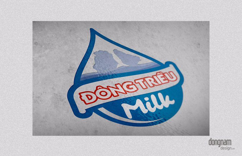 thiết kế logo sữa Đông Triều milk
