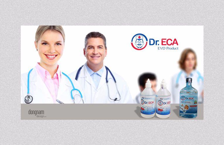 thiết kế logo nhãn hiệu sản phẩm Dr.ECA
