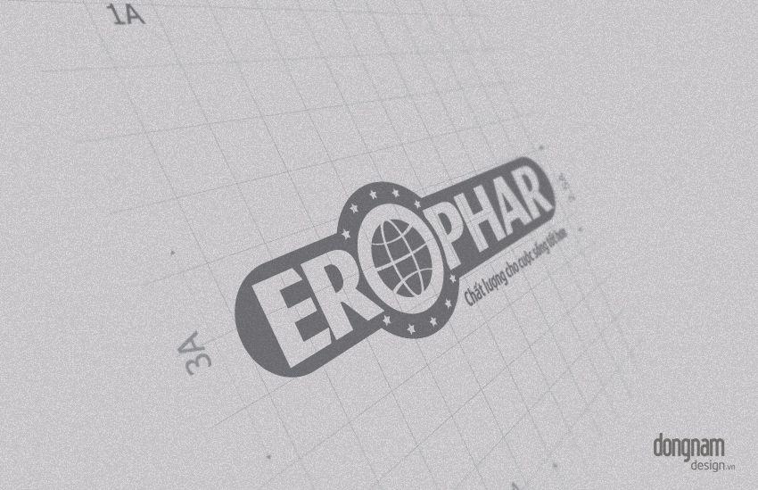 thiết kế logo công ty dược phẩm Erophar