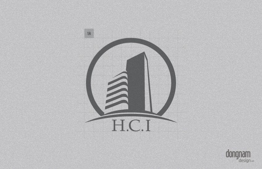 thiết kế logo công ty kiến trúc xây dựng HCI