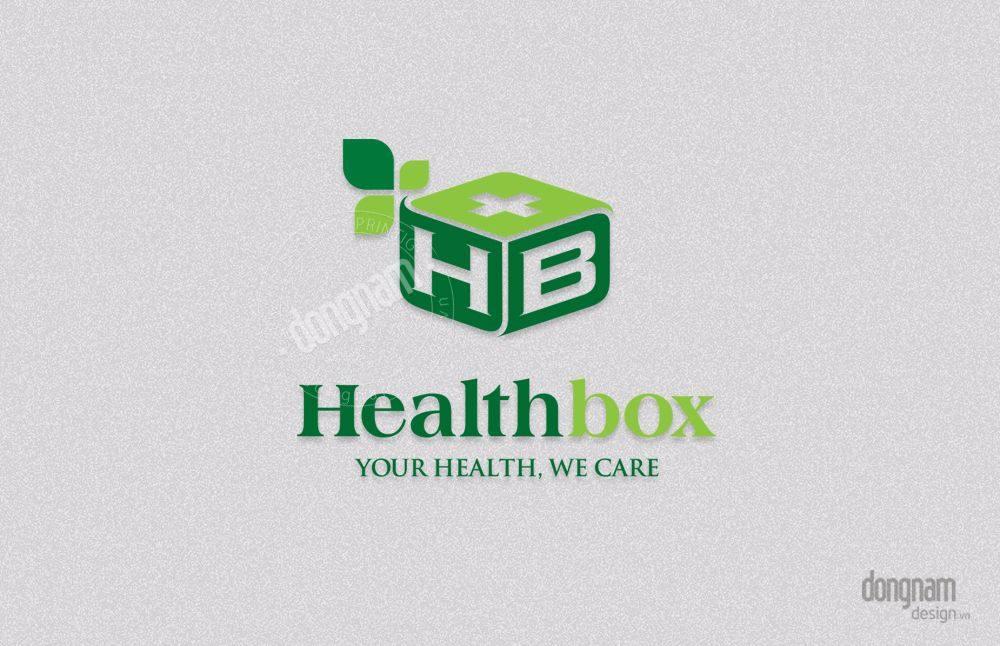 thiết kế logo công ty Health Box