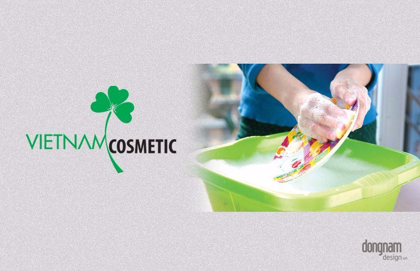 thiết kế logo công ty hoá mỹ phẩm Vietnam Cosmetic
