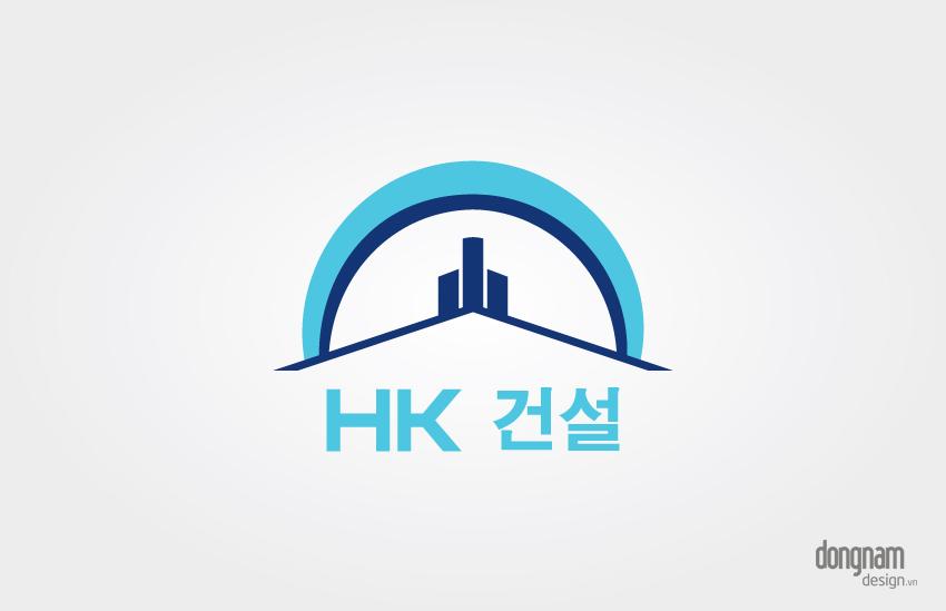 thiết kế logo công ty xây dựng huệ khanh