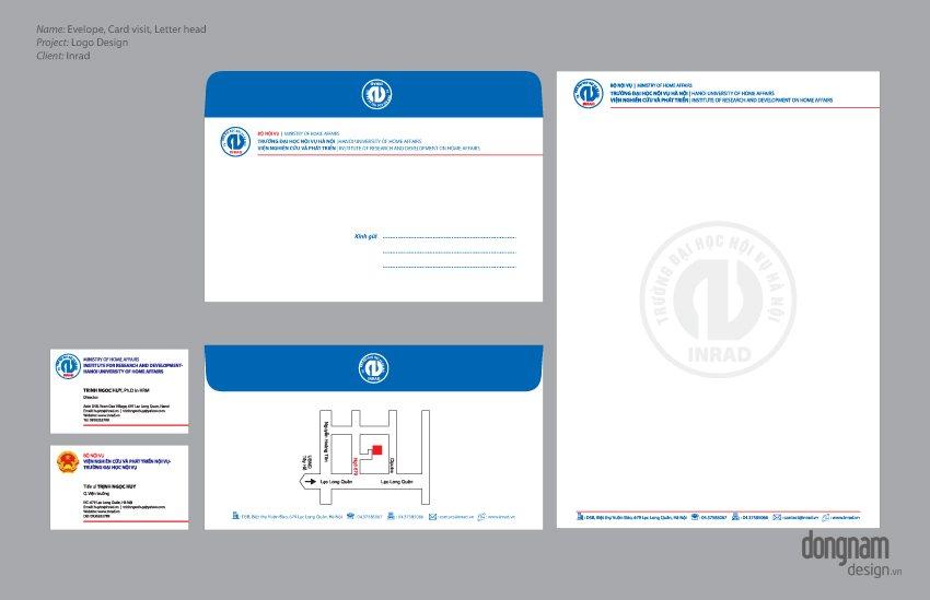 Thiết kế bộ nhận diện thương hiệu Viện nghiên cứu Inrad