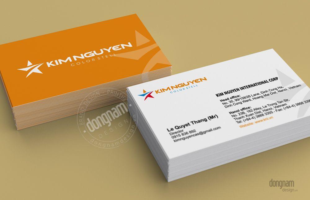 thiết kế card visit công ty Kim Nguyên