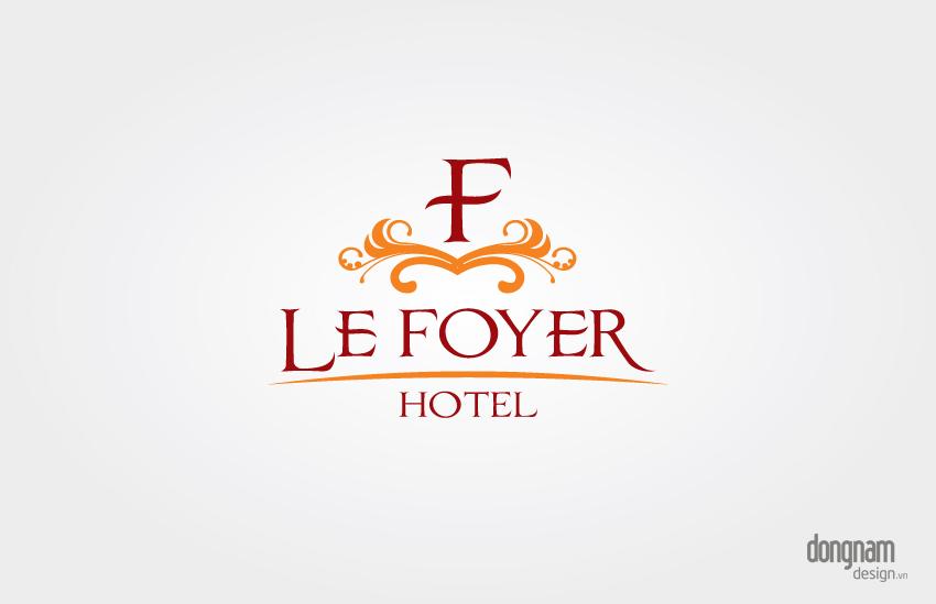 thiết kế logo khách sạn Le Foyer