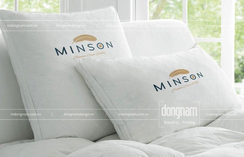 thiết kế logo chăn ga gối đệm Minson