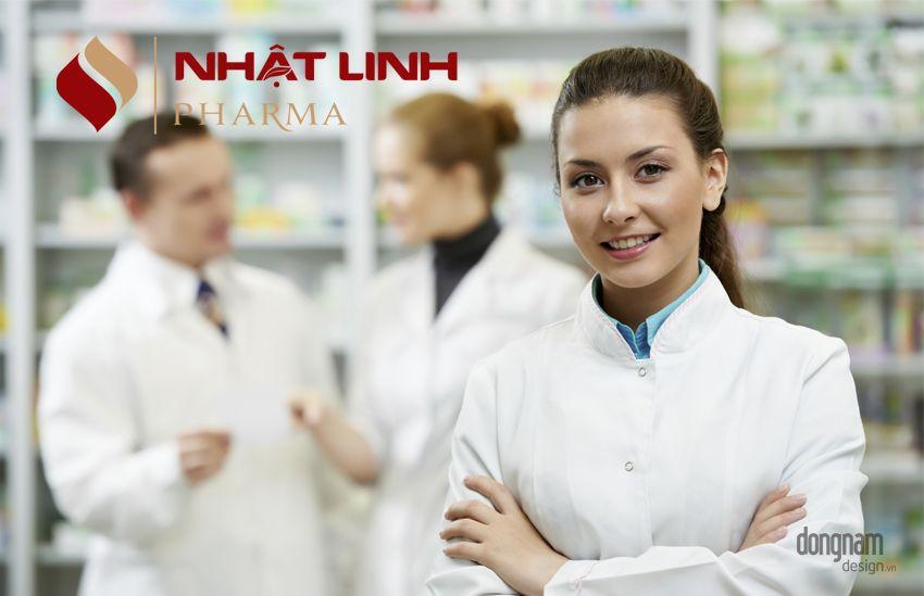 thiết kế logo công ty dược phẩm Nhật Linh