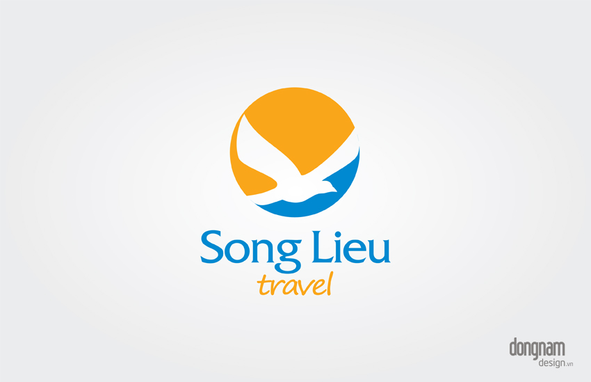 thiết kế logo công ty du lịch Song Liêu travel
