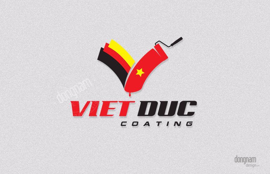 thiết kế logo công ty sơn việt đức