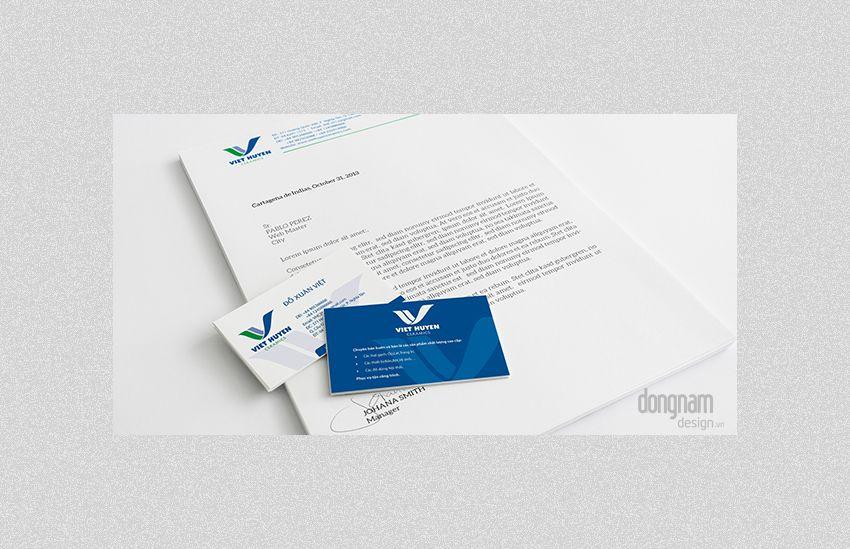 thiết kế bộ nhận diện thương hiệu công ty Việt Huyền