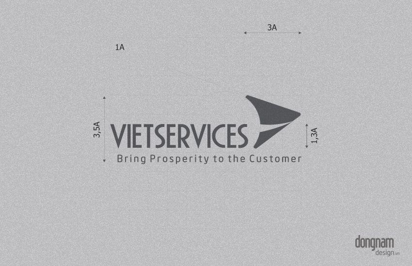 thiết kế logo thương hiệu công ty Vietservices