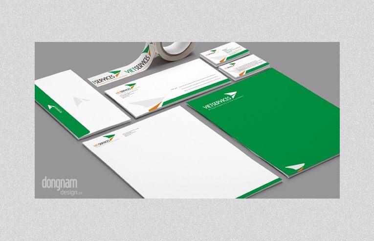thiết kế bộ nhận diện thương hiệu công ty Vietservices