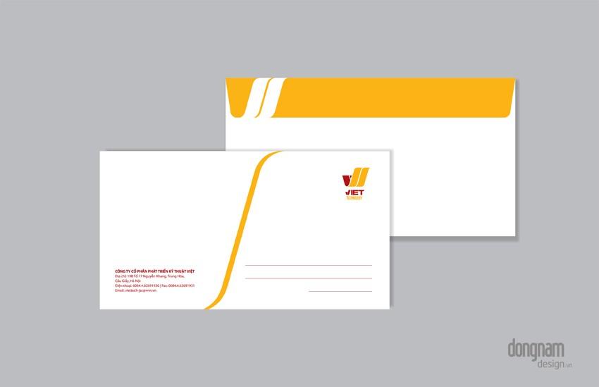 thiết kế phong bì A6 công ty Viettech