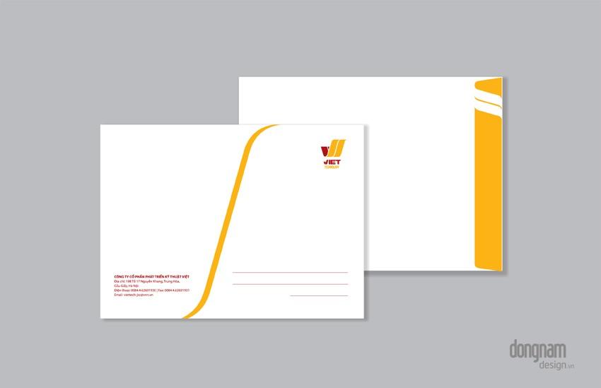 thiết kế phong bì công ty Viettech