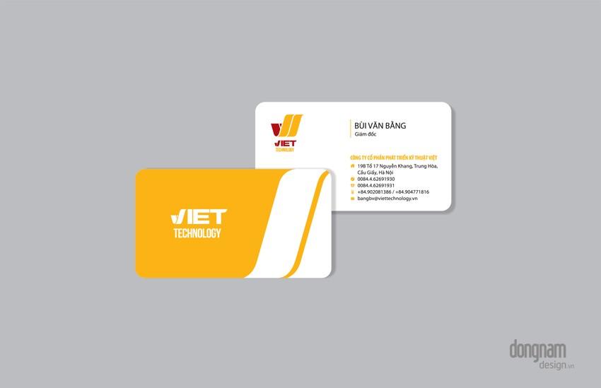 thiết kế card visit công ty Viettech