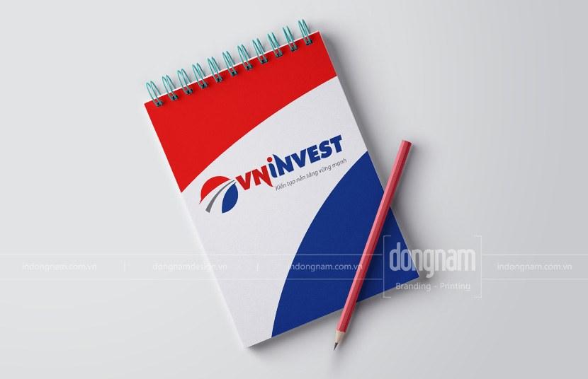 thiết kế logo và bộ nhận diện công ty VN invest